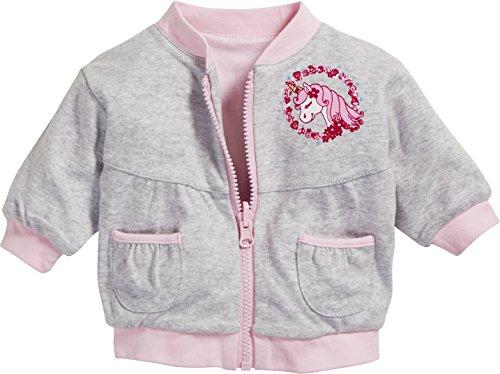 Schnizler Wende-Jacke Interlock Einhorn Blouson, Gris (Grey/Mélange 37), Naissance (Taille Fabricant:50) Mixte bébé