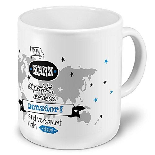 printplanet XXL Riesen-Tasse der Stadt/Ort Donzdorf - Motiv Kein Mann ist Perfekt, Aber. - Stadttasse, Kaffeebecher, Becher, Mug