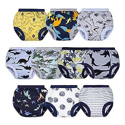 BIG ELEPHANT Toddler Potty Training Pants- 100% Cotton Unisex Baby Pee Underpants 10-Pack, 12M-4T from BIG ELEPHANT