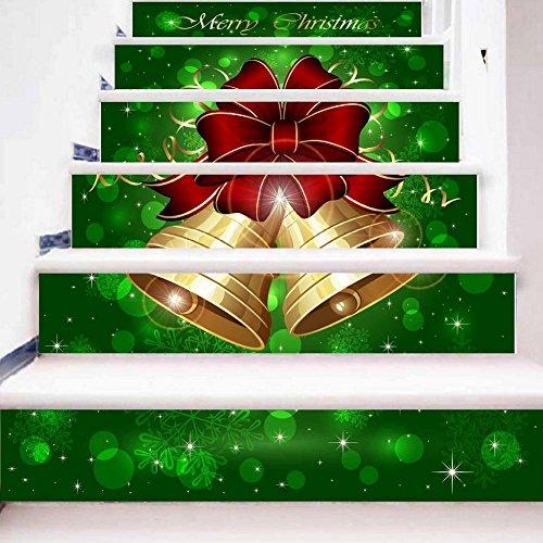 YYH Creativo Realistico 3D Scale Decorare DIY Etichetta Natale Piccole Campane Impermeabile Murales Autoadesiva