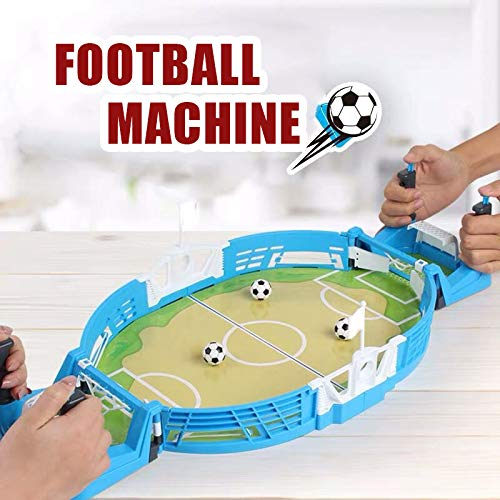Syfinee Mini Tabletops Soccer Game, Portable Mini Table Football Desktop Football Two Player Finger Sport Toy 55x28cm for Kids Adults