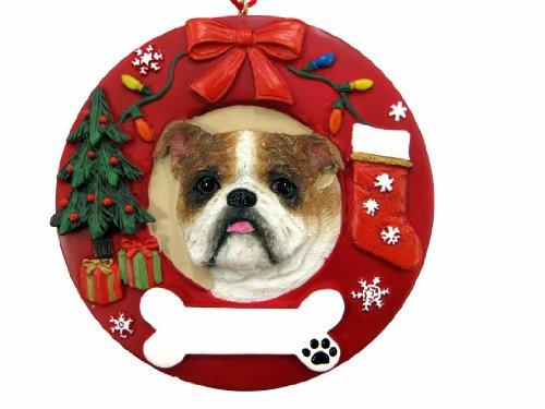 E&S Pets Bulldog Personalized Christmas Ornament