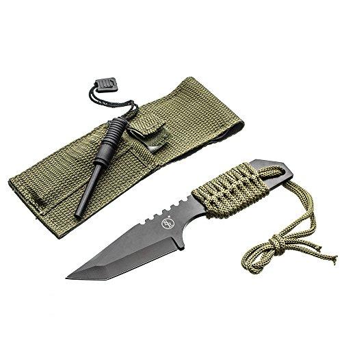 SE Outdoor Tanto Knife with Firestarter - KHK6320-FFP