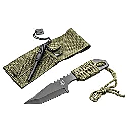 SE Outdoor Tanto Knife with Firestarter – KHK6320-FFP