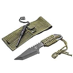 SE Outdoor Tanto Knife with Firestarter – KHK6320-FFP