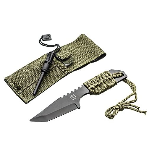 SE Outdoor Tanto Knife with Firestarter - KHK6320-FFP 3