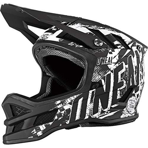 O'NEAL   Mountainbike-Helm   MTB Downhill   Dri-Lex® Innenfutter, Ventilationsöffnungen für Kühlung, Fiberglas Außenschale   Blade HYPERLITE Helmet Rider   Erwachsene   Schwarz Weiß   Größe M