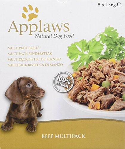 Applaws - Lata de selección para Perros y bovinos (156 g, 4 Unidades, 32 Unidades)