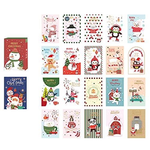 COSYOO Adorable Decorativo Único Colorido Decoración Niños Adultos Niñas Navidad Pegatinas Dibujos Animados Lindo 40 Hojas Adhesivo Decorativo Colorido