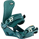 Nitro Women's Ivy BDG´21 Snowboard Binding, Blue Leaf, S/M
