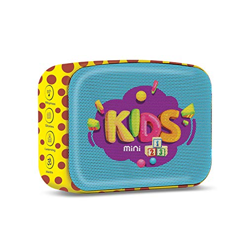 Saregama Carvaan Mini Kids - Pre-Loaded with Stories, Rhymes, Learnings, Mantras with Bluetooth/USB/Aux in-Out