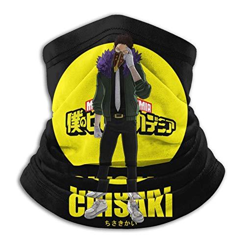 AmyNovelty 12-In 1 Bandana,My Hero Academia Kai Chisaki Head Wrap, Protectores Faciales De Poliéster A Prueba De Viento para Caza Al Aire Libre,26x30cm