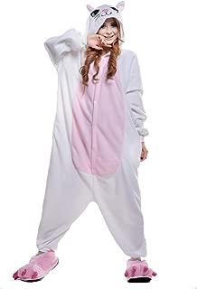 Adult Anime Unisex Pyjamas Halloween Onesie Costume (S, White Cat)