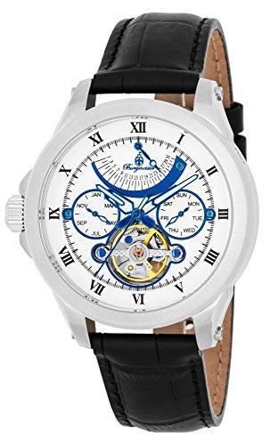 Burgmeister Armbanduhr für Herren mit Analog Anzeige, Automatik-Uhr und Lederarmband - wasserdichte Herrenuhr mit zeitlosem, schickem Design - Klassische Uhr für Männer - BM350-112 Colorado Springs