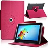 Seluxion-Funda universal M, color rosa, para tablet BQ Curie 2 8