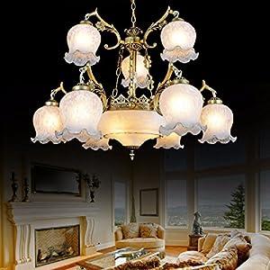 CNBBGJ Atmósfera candelabros europeo, hotel Villa Juana piso dúplex Unión candelabros de cristal de murano