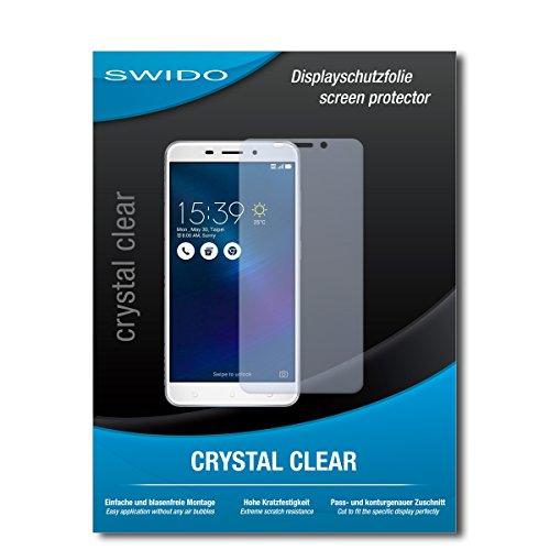 SWIDO Schutzfolie für Asus Zenfone 3 Laser [2 Stück] Kristall-Klar, Hoher Festigkeitgrad, Schutz vor Öl, Staub & Kratzer/Glasfolie, Bildschirmschutz, Bildschirmschutzfolie, Panzerglas-Folie