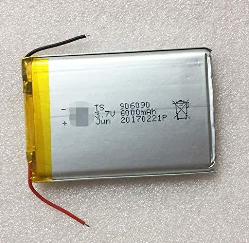 QianHaoQJu XW-Battery, 1pc 6000mAh 906.090 3,7 V Lithium-Polymer-Batterie Lipo wiederaufladbare Li-Ionen-Zelle for E-Book GPS PSP DVD Power Bank Tablet PC
