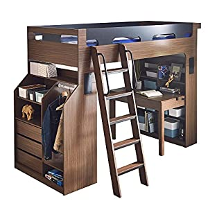 システムベッド Baum(バウム) 木製 ベッド/BR-BK