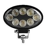 12V / 24V 60W LED del trabajo oval, Bar viga de la inundación del reflector de faros antiniebla, 6000K punto del haz de luz de niebla luces de activación del cabezal, para coches, camiones tractores