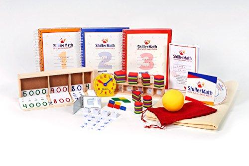 ShillerLearning Math Kit I Basic - Homeschool Montessori Math Curriculum - (Pre-K to 3rd Grade)