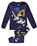 Tkiames Enfants Garçons Ensembles de pyjama Mignonne Tracteur,Bleu, 5 ans