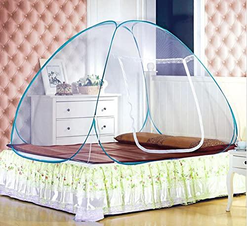 Mongolian Yurt Portable Pop-Up Mosquito Net Camping Tienda Toldo Cama Double Queen King Tamaño-100X190Cm