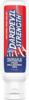 Daredevil Strength Muscle & Arthritis Pain Relieving Gel, Cooling Natural Pain Relief, Soothes Sore Muscles and Arthritis, Non-Greasy, Natural Menthol, Natural Epsom Salts, No Capsaicin, No Lidocaine