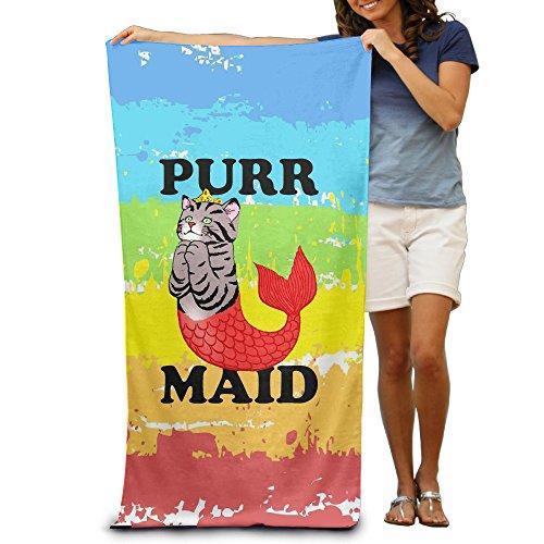 Purr-maid Beach Towel