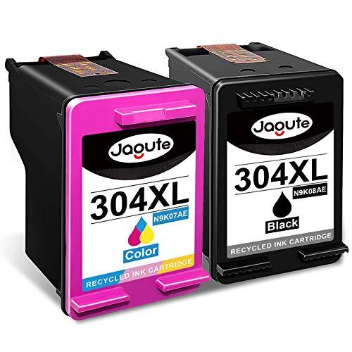 Jagute HP 304XL - Cartuchos de tinta para HP Deskjet 3764, 3760, 3758, 3733, 3700, 2655, 2633, 2622, 2620, 2600, HP AMP 100, 120, 125 y 130 HP Envy 505 8 5055 5050 5010.