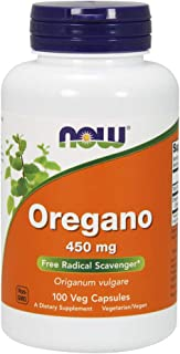 NOW Supplements, Oregano (Origanum vulgare) 450 mg, Free Radical Scavenger*, 100 Veg Capsules