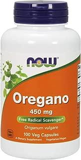 NOW Supplements, Oregano 450mg, 100 Veg Capsules