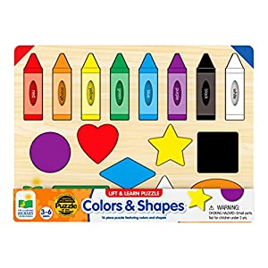 The Learning Journey Lift & Learn Puzzle - Colors & Shapes - Preschool Toys & Gifts for Boys & Girls Ages 3 and Up - Award Winning Toy