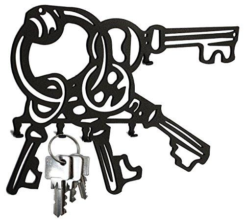 Tableau à clé en métal Clé de * * * * (22 x 16 cm, Noir)
