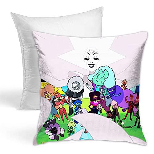 Wyxllmg1170109 Steven Universe (4) Cool Comics New Decoration Square Pillowcase Cushion Fixed Suitable for Sofa Bedroom Car Home Decoration45.72 X 45.72 cm