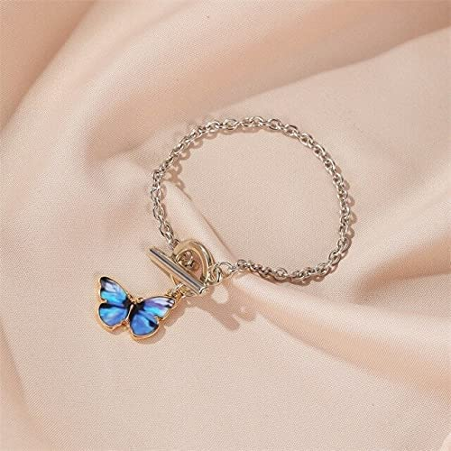 Butterfly Necklace - TCLM Blue Butterfly Choker Necklace for Wom
