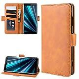 Étui pour téléphone Porte-Monnaie Stand Case de téléphone Portable en Cuir for Sony Xperia XZ3,...