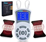 FlexHeat Tens EMS Unit with Infrared Heat - FDA 510K Cleared - Patented Tens Unit Muscle Stimulator Machine - Pain Relief Therapy for Back Pain, Nerve, Muscle and Bone Inflammation, Arthritis, Labor