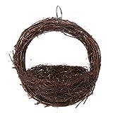 KJ-KUIJHFF Casa para pájaros, nido de pájaros, hecho a mano para colgar, nido de cría de pájaros, nido de cría de loros, accesorios para jaula de huevos