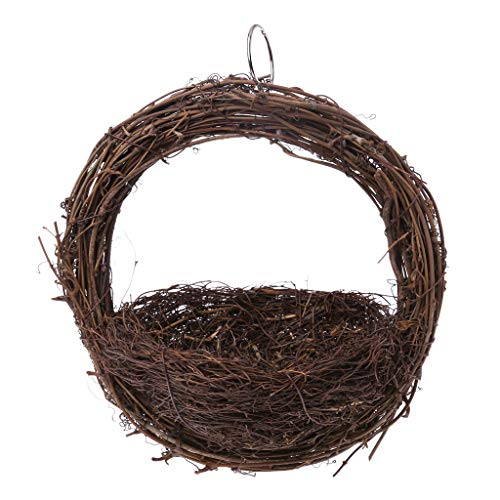 KJ-KUIJHFF Nichoir à oiseaux à suspendre fait à la main pour perroquet, nid d'élevage, accessoires pour cage à œufs