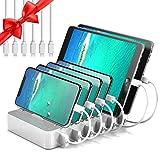 JZBRAIN Station de Charge 6 USB Chargeur Multi USB Ports avec Interrupteur, Station...