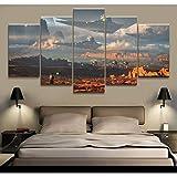 KQURNXSL 5 stücke malerei Star war Movie Poster Moderne wohnkultur für Wohnzimmer Wand leinwanddruck Bilder malerei leinwand