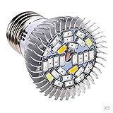 joyMerit 5 Unids / Set Plantas De Interior LED Crecen Lámpara De Cultivo Luz Hidropónica Espectro Completo 10W