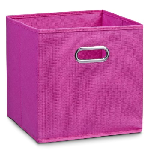 Zeller 14136 - Caja de almacenaje de tela, plegable, 28 x 28 x 28 cm, color rosa