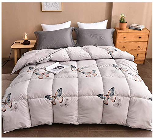 BAIHAO King Size Duvet - 13.5 Tog Luxurious Goose Feather & Down Quilt 40% Down King Size Bed Duvet 100% Cotton Shell Anti-dust Mite & Feather-proof Fabric Anti-allergen