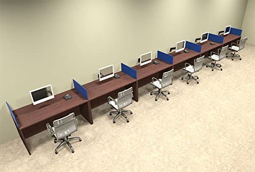 Six Person Blue Divider Office Workstation Shipping included Desk Factory outlet Set OT-SUL-SPB1