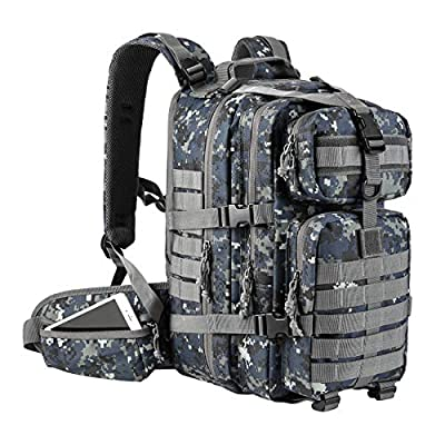 Gelindo Military Tactical Backpack, Hydration Backpack, Army Molle Bag, Small Rucksack for Hunting, Survival, Camping, Trekking, School, 35L from Gelindo
