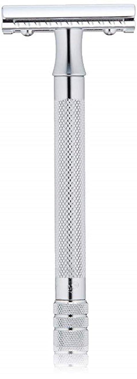 徹底旅行ファイバメルクール(MERKUR) MK-23C 両面剃刀、替刃50枚、セーフティ替刃ゴミ箱の3点セット [並行輸入品]
