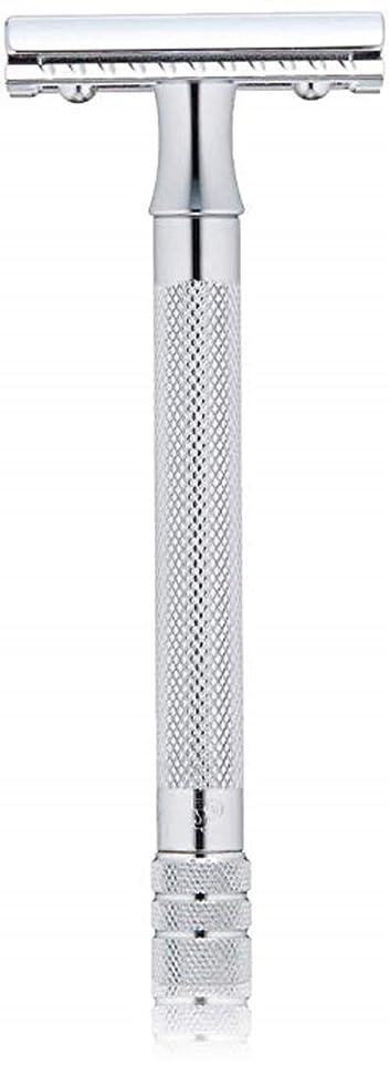 メルクール(MERKUR) MK-23C 両面剃刀、替刃50枚、セーフティ替刃ゴミ箱の3点セット [並行輸入品]