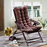 AMZ Microfibre Soft Home Seat Cushion Long Chair Pad Cushion for Indoor/Outdoor Home Office Garden Decor (Brown,48 x 16 Inches,Set of 1)